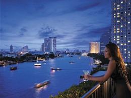 Splendide vue sur la rivière de Chao Phraya