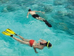 Snorkeling au Shangri-La's Villingili aux Maldives