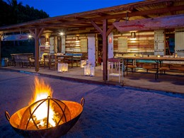 Restaurant Sunset Vibes de l'hôtel Shanti Maurice