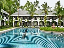 La superbe piscine du Shinta Mani à Siem Reap
