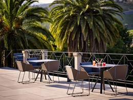 La terrasse du bar du Six Senses Douro Valley