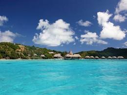 Vue de l'hôtel Sofitel Bora Bora Private Island