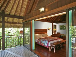 Luxury Lodge Bungalow Lagoon View du Sofitel Bora Bora Private Island