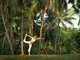 Yoga dans le jardin tropical du Sofitel Singapore Sentosa