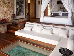 Overwater villa de l'hôtel Song Saa Private Island