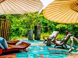 Espace de détente du Song Saa situé au sud du Cambodge