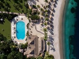 Vue aérienne sur la piscine
