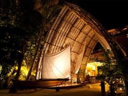 Le lobby de l'hôtel Tahaa Island Resort & Spa situé en Polynésie