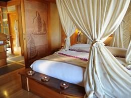 Villa Plage de l'hôtel Tahaa en Polynésie