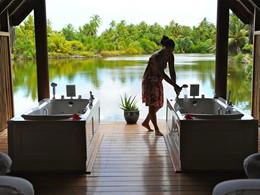 Le spa de l'hôtel Tahaa Island Resort & Spa situé en Polynésie