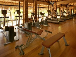 La salle de sport de l'hôtel Tahaa en Polynésie