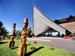 L'entrée de l'hôtel Tahiti Ia Ora Beach Resort
