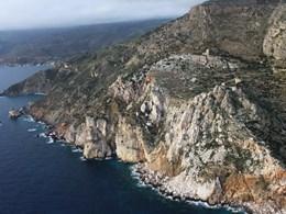 Vue aérienne sur la falaise