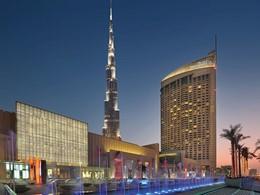 Vue exterieure de l'hôtel The Address Dubaï Mall situé en plein centre de Dubaï