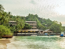 Vue du Beach Club By Haadtien situé sur la pointe sud de Koh Tao
