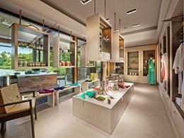 La boutique du spa de l'hôtel The Brando en Polynésie