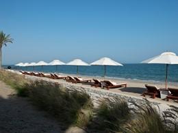 La plage de l'hôtel The Chedi situé à Oman