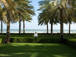 Jardin de l'hôtel The Chedi situé à Mascate