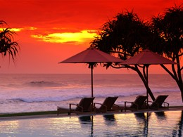 Coucher de soleil au Fortress Resort au Sri Lanka