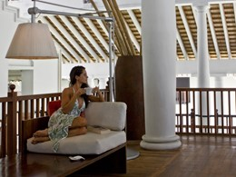 Le T-Lounge du Fortress Resort au Sri Lanka
