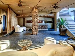 La réception du spa de l'hôtel The Griya à Amed