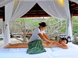 Massage au spa de l'hôtel The Menjangan