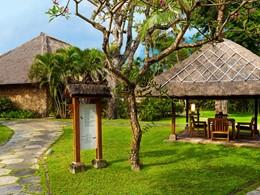 Jardin de l'hôtel The Oberoi situé à Bali
