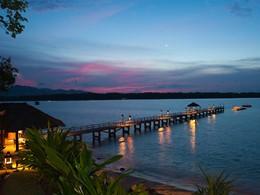 Le ponton de l'hôtel The Oberoi Lombok