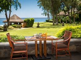 Restaurant principal de l'hôtel Oberoi situé dans la baie aux Tortues