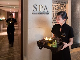 L'entrée du Peninsula Spa de l'hôtel Peninsula Hong Kong situé en Chine