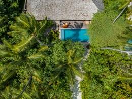 Vue aérienne d'une Deluxe Beach Pool Villa