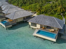 Vue aérienne des Deluxe Lagoon Pool Villas