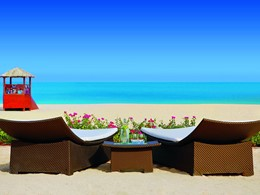 Vue de la plage de Jumeirah Beach du Ritz Carlton