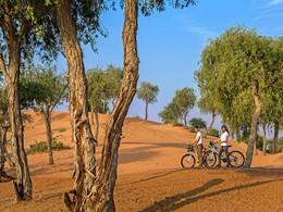 Balade à vélo à l'hôtel Banyan Tree Al Wadi