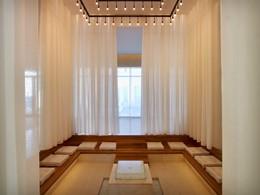 L'espace de relaxation du spa du Romanos