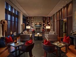 Détente dans le Setai Lounge du Setai, aux Etats-Unis