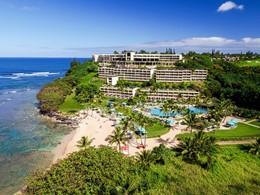 Vue du Princeville Resort Kauai, le meilleur hôtel de l'île de Kauai