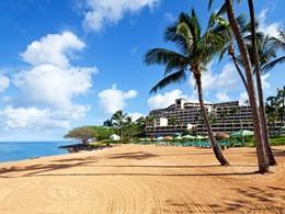 La plage de l'hôtel Princeville Resort Kauai à Hawaii