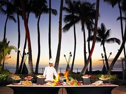 Le chef à l'oeuvre à l'hôtel The Westin Maui
