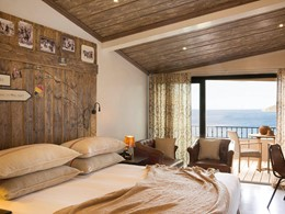 Chambre Vue Maquis de l'U Capu Biancu en Corse