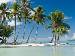 La plage de l'hôtel Vahine Island situé à Tahaa