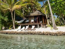 Vue d'un Beach Bungalow de l'hôtel Vahine Island en Polynésie