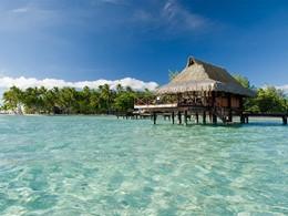 Vue d'un Bungalow de l'hôtel Vahine Island en Polynésie