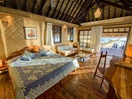 Bungalow de l'hôtel Vahine Island en Polynésie