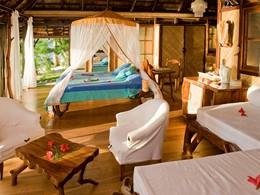 Suite de l'hôtel Vahine Island en Polynésie