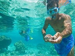 Snorkeling à l'hôtel Vahine Island à Tahaa