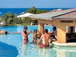 Conchiglia Bar de l'hôtel Valle dell'Erica situé en Sardaigne