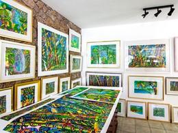 La galerie d'art du Valmer Resort situé aux Seychelles