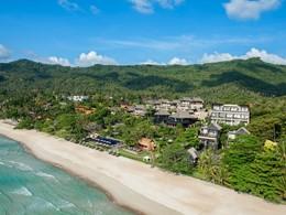 Vue aérienne du Vana Belle et de la plage de Chaweng Noi