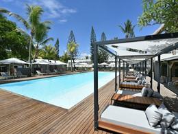 La superbe piscine de l'hôtel Veranda Tamarin